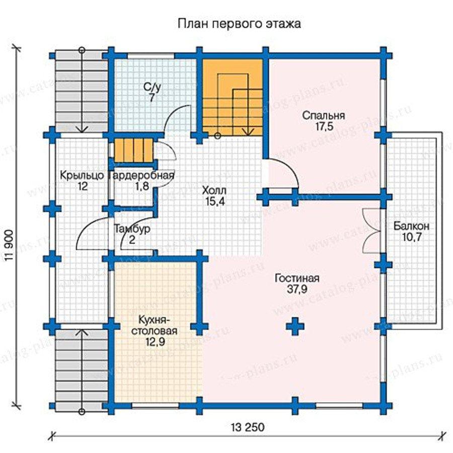 План 2-этажа проекта 13-37