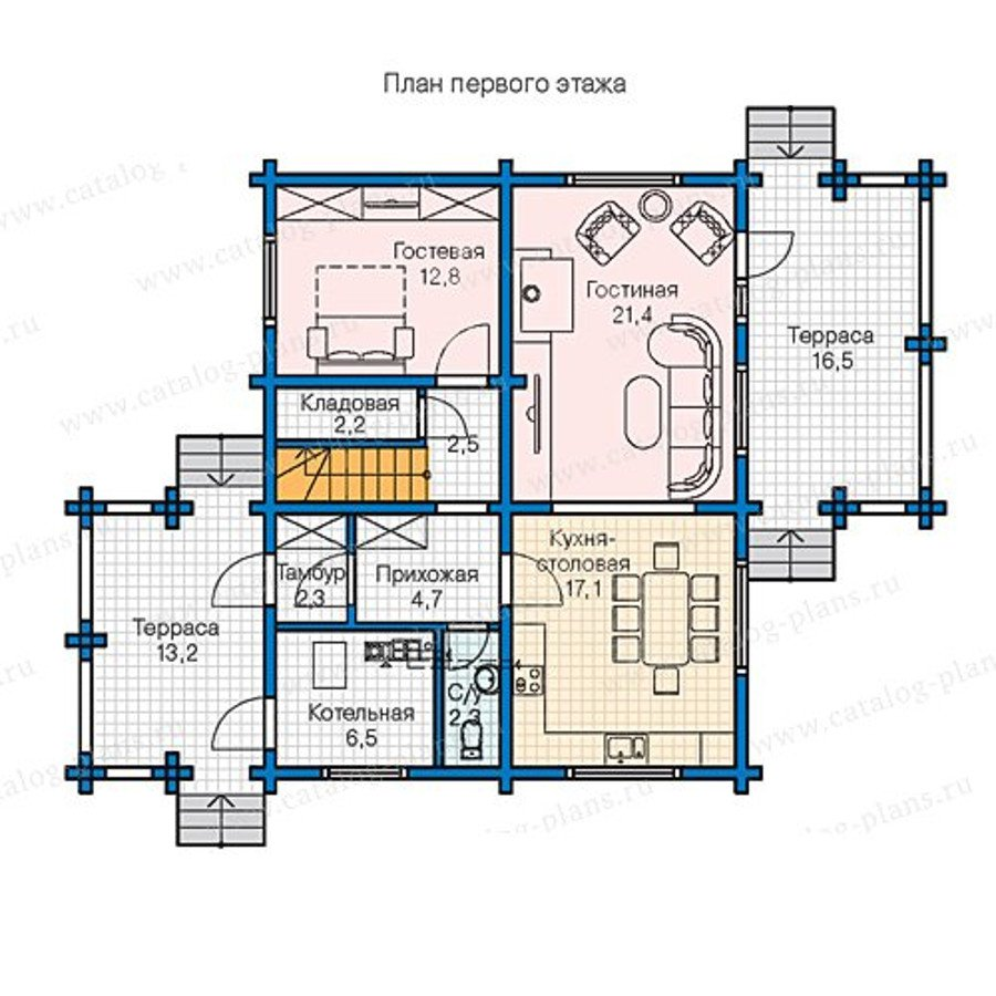 План 1-этажа проекта 13-33