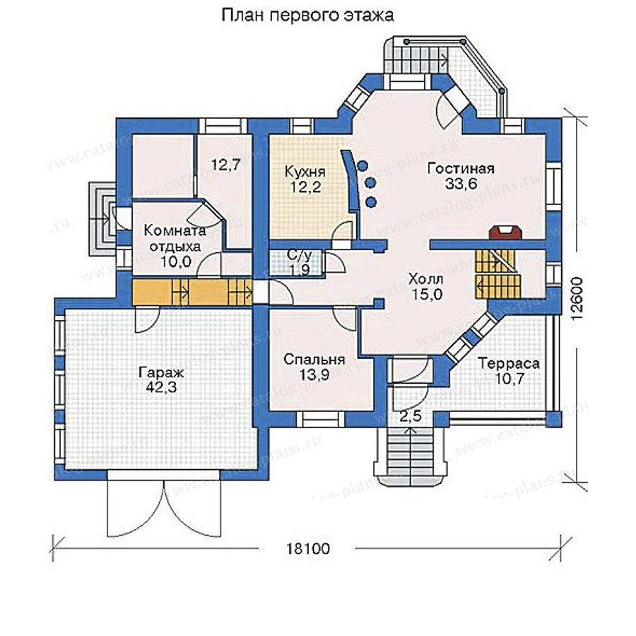 План 1-этажа проекта 52-14