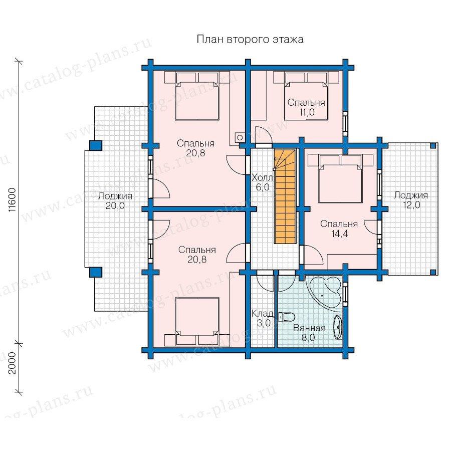 План 2-этажа проекта 13-57