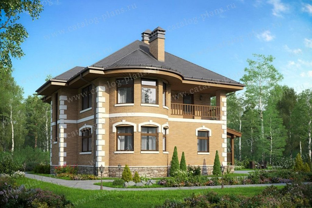Проект жилой дом #48-22G материал - газобетон, стиль классический