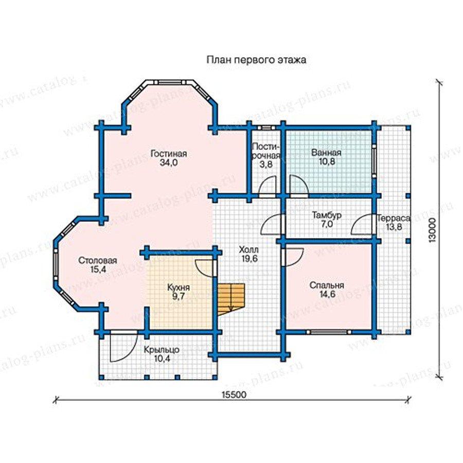 План 1-этажа проекта 13-40