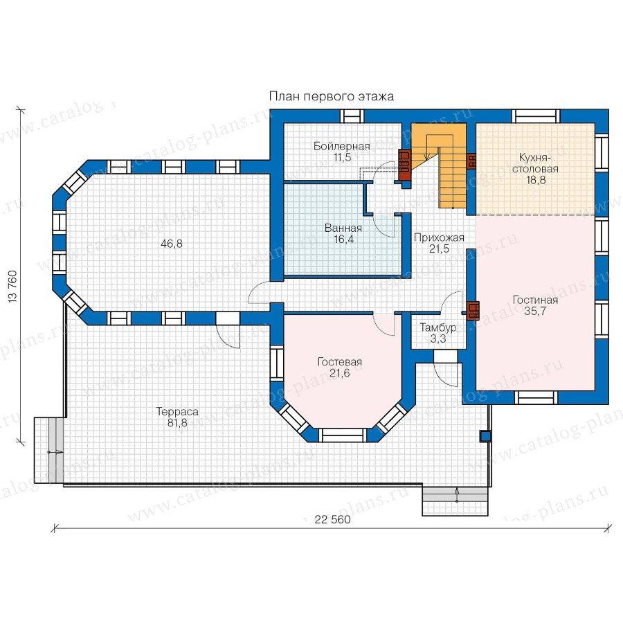 План 1-этажа проекта 48-32G