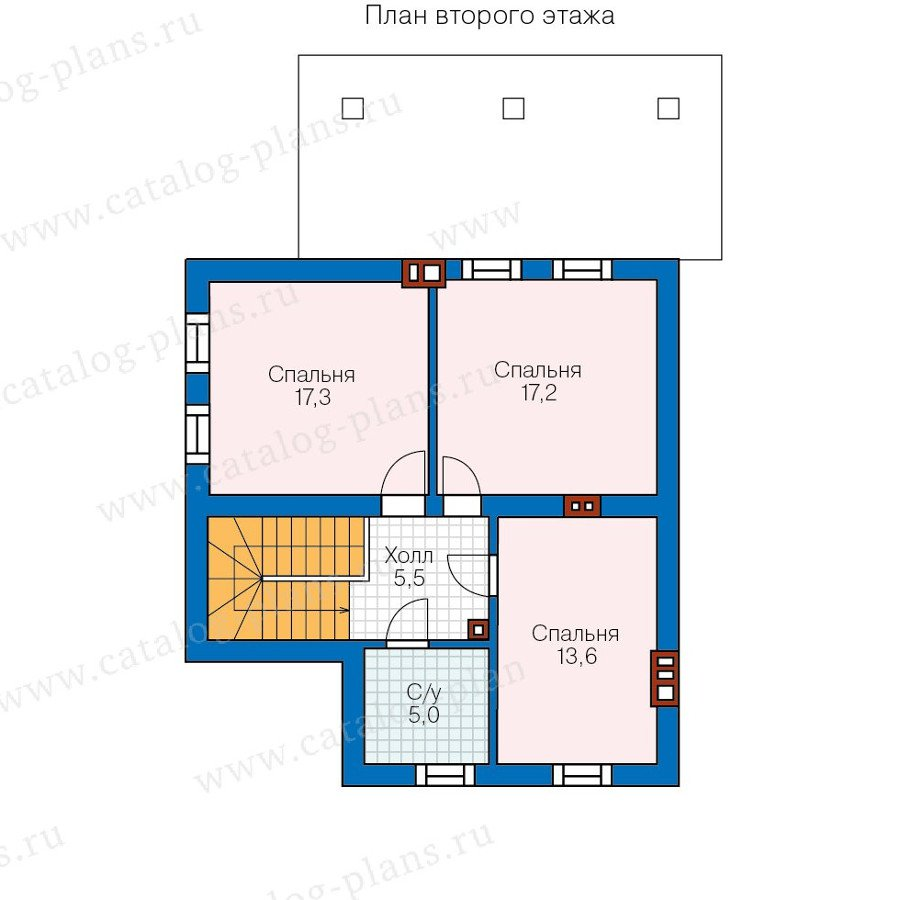 План 2-этажа проекта 48-20AKL