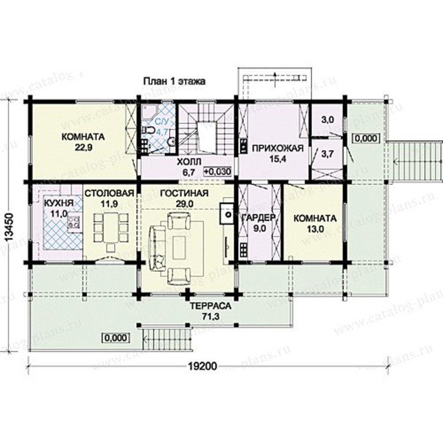 План 2-этажа проекта 13-35