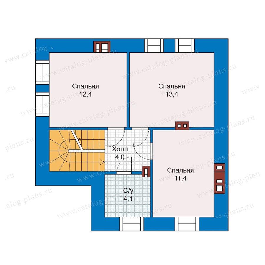 План 2-этажа проекта 48-20G