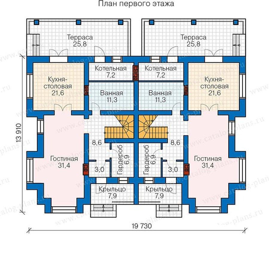 План 1-этажа проекта 48-34G