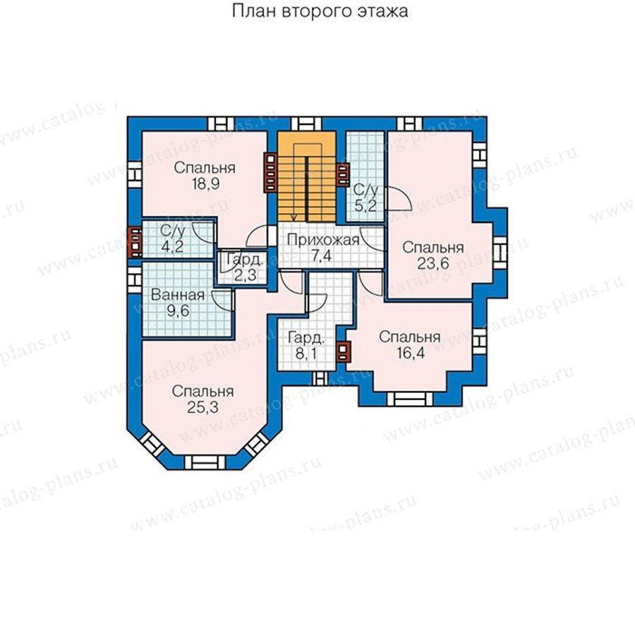План 2-этажа проекта 48-29AG