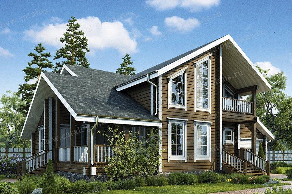 Проект жилой дом #13-41 материал - дерево, стиль скандинавский