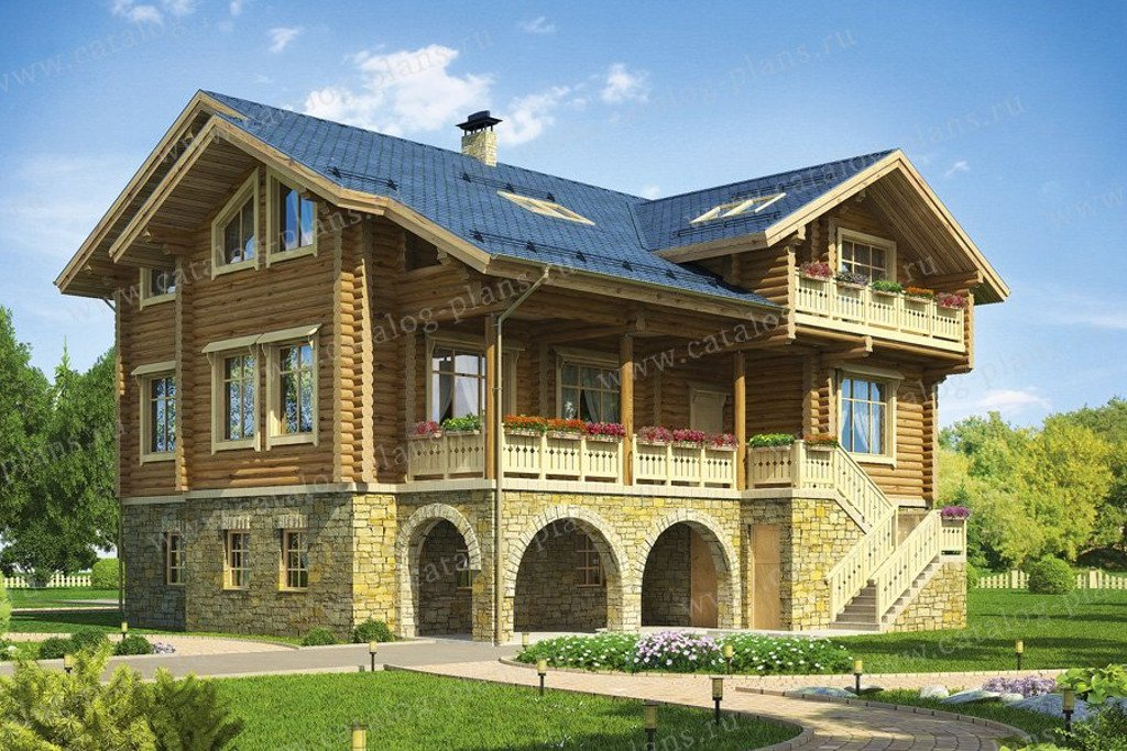 Проект жилой дом #13-29 материал - дерево, стиль скандинавский