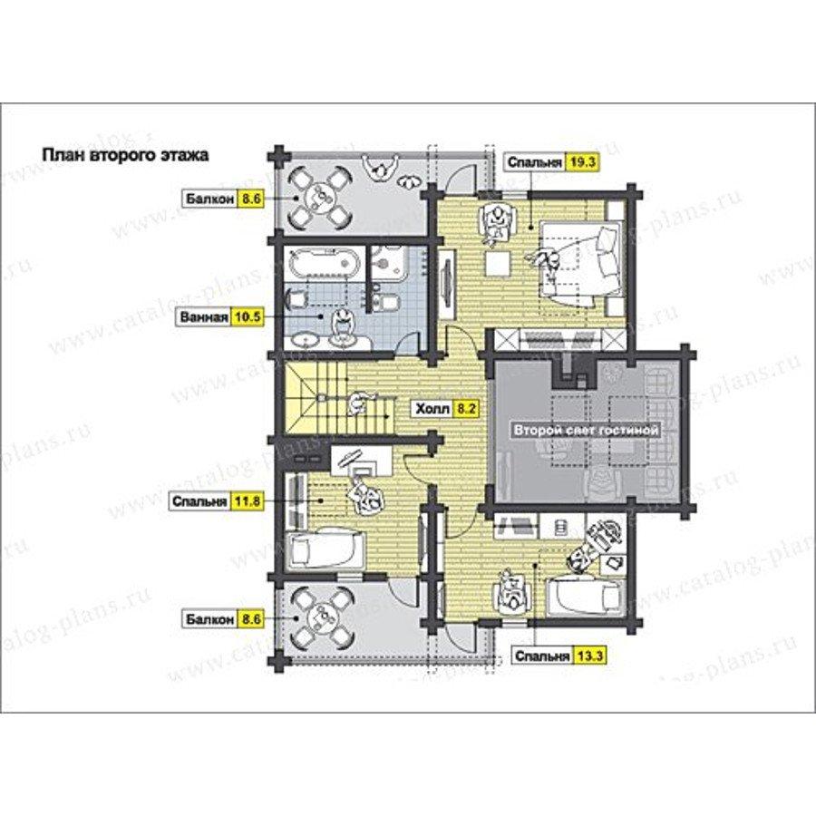 План 2-этажа проекта 13-23