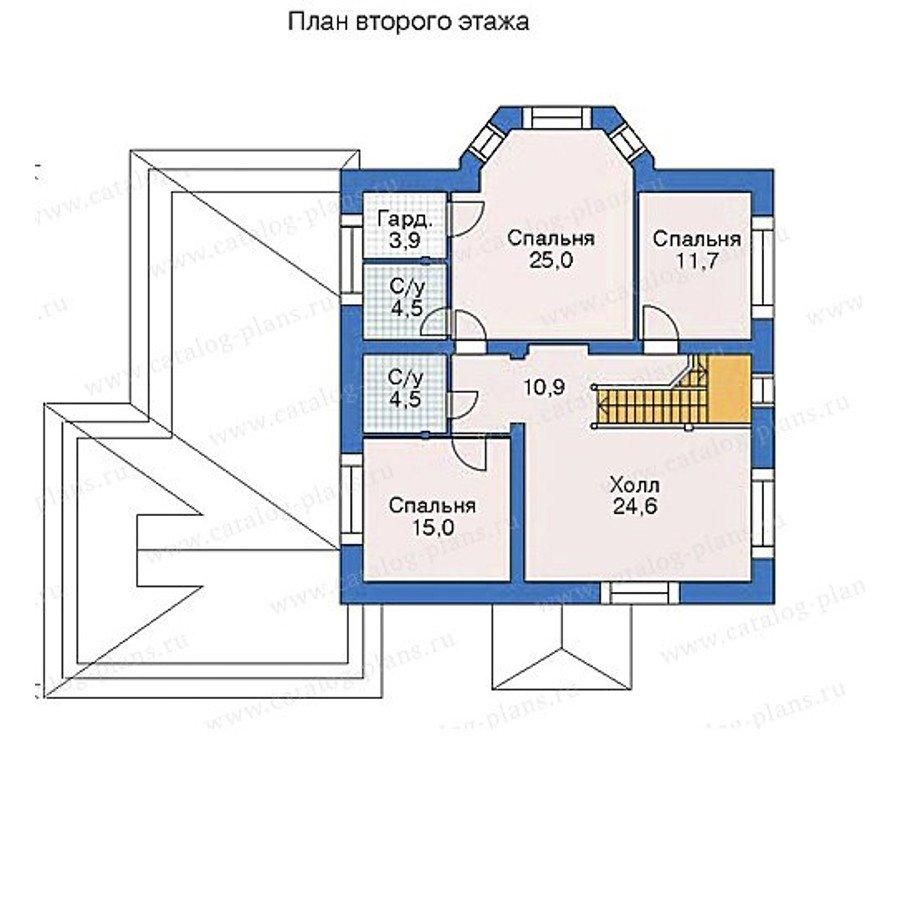 План 2-этажа проекта 52-14