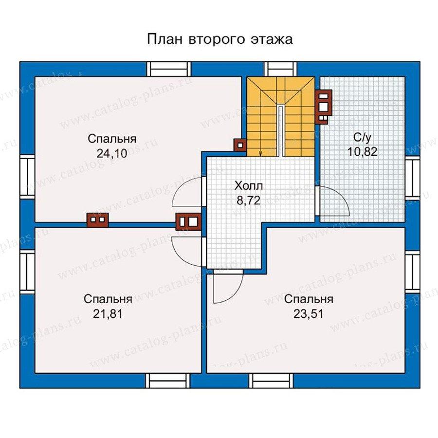 План 2-этажа проекта 56-98K