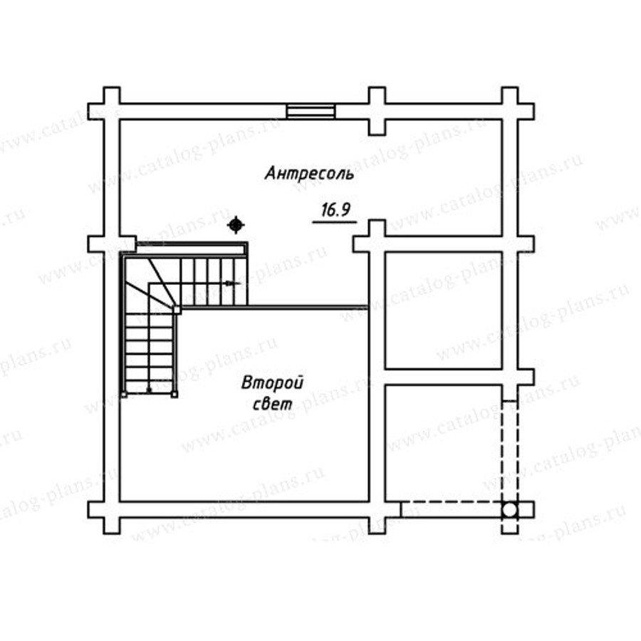 План 2-этажа проекта 13-74