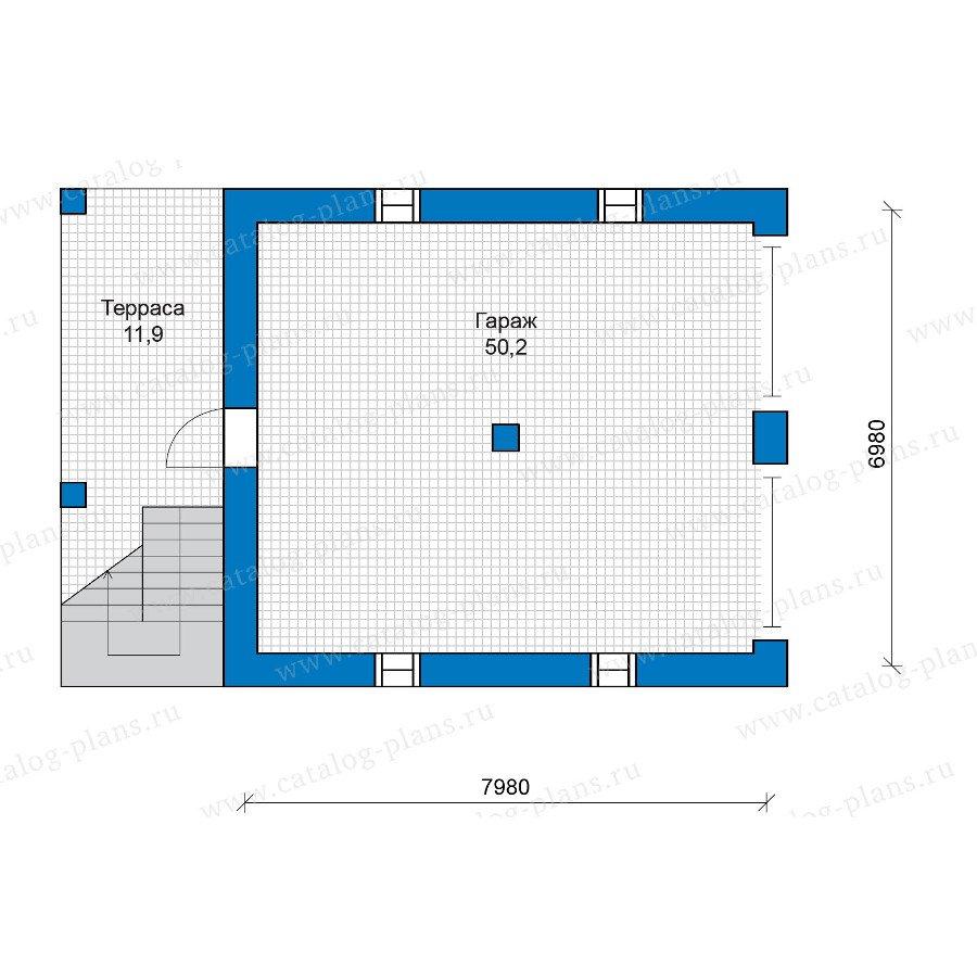План 2-этажа проекта 48-18G