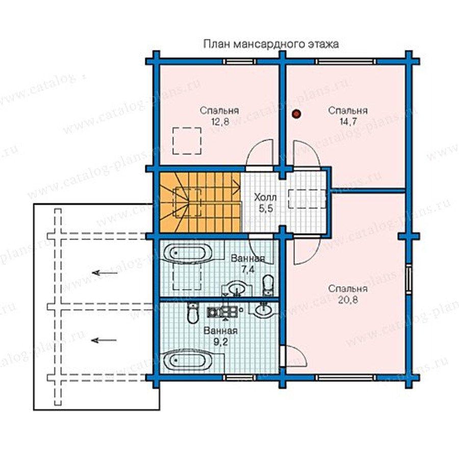 План 2-этажа проекта 13-32