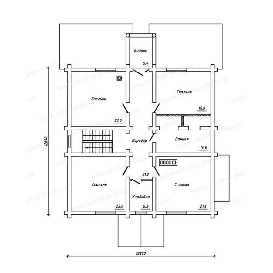 План 2-этажа проекта 13-26