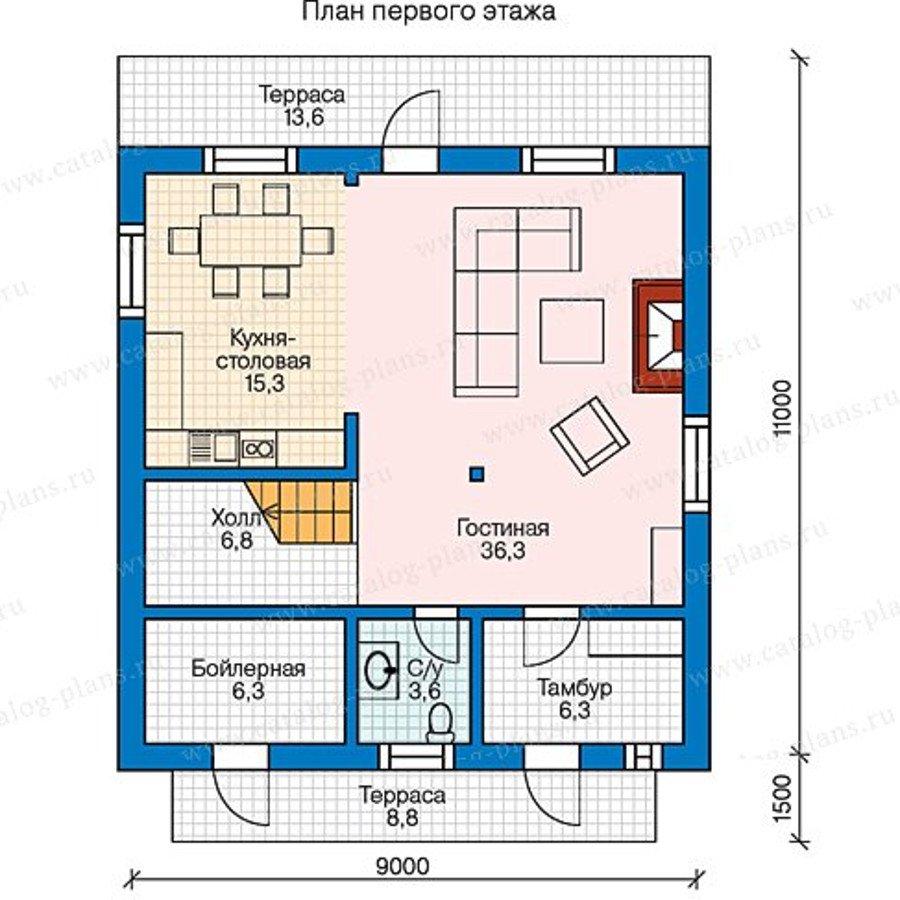 План 1-этажа проекта 13-39