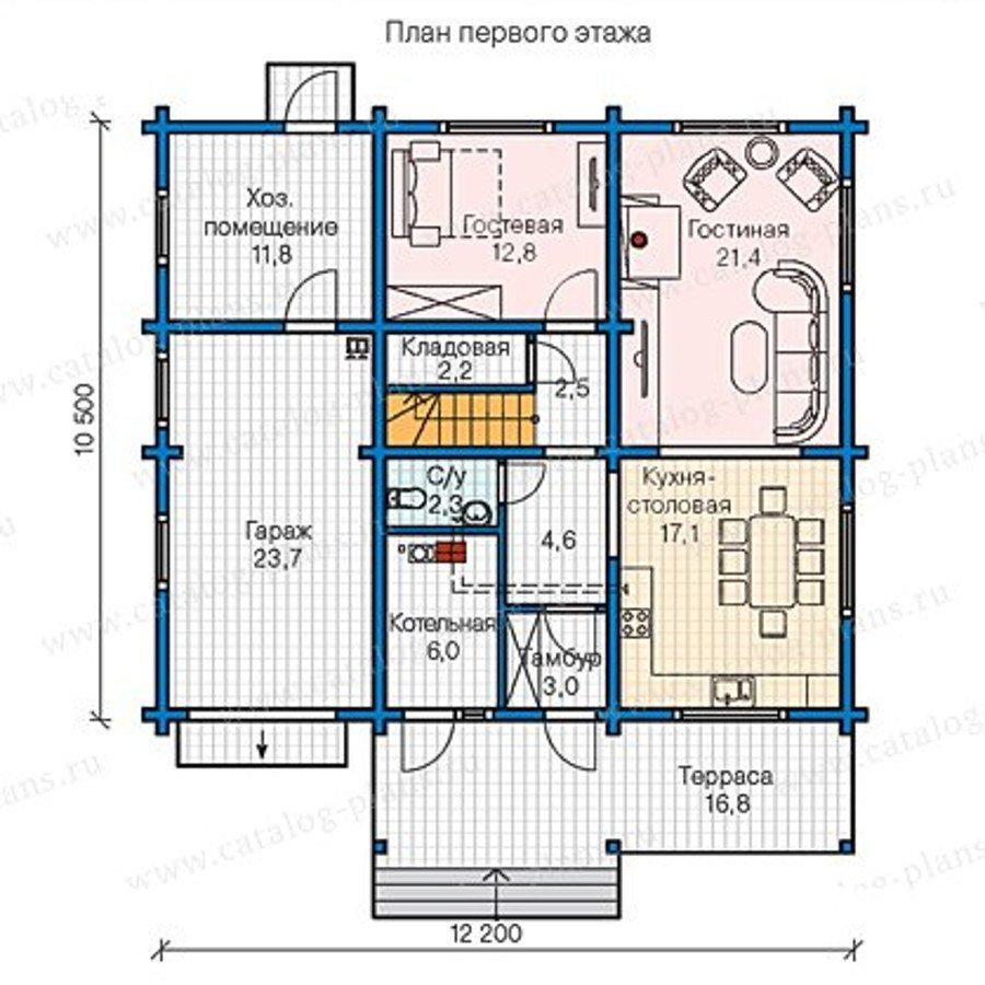 План 1-этажа проекта 13-34
