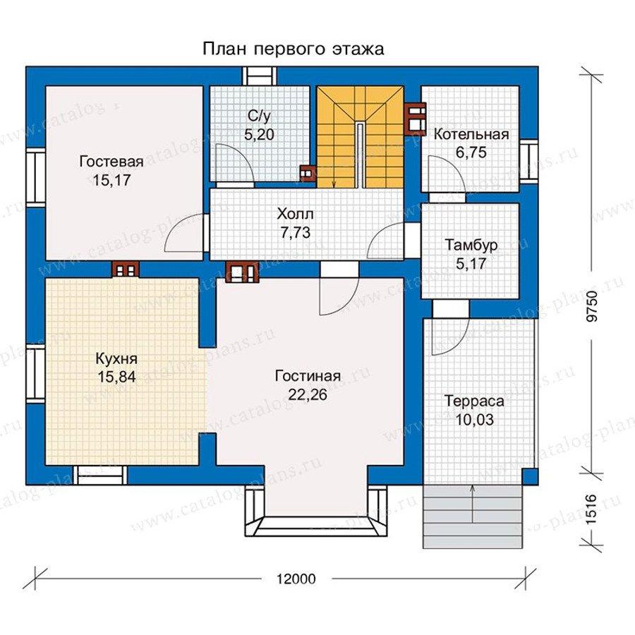 План 1-этажа проекта 56-99K
