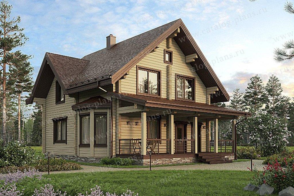 Проект жилой дом #13-36 материал - дерево, стиль скандинавский