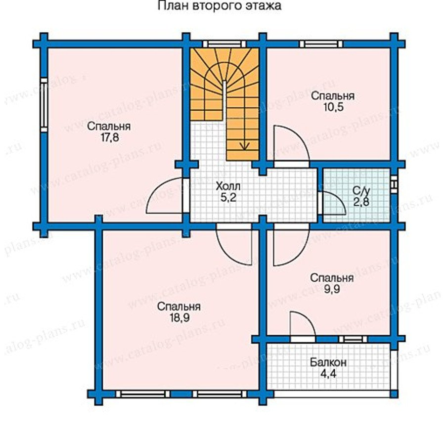 План 2-этажа проекта 13-41