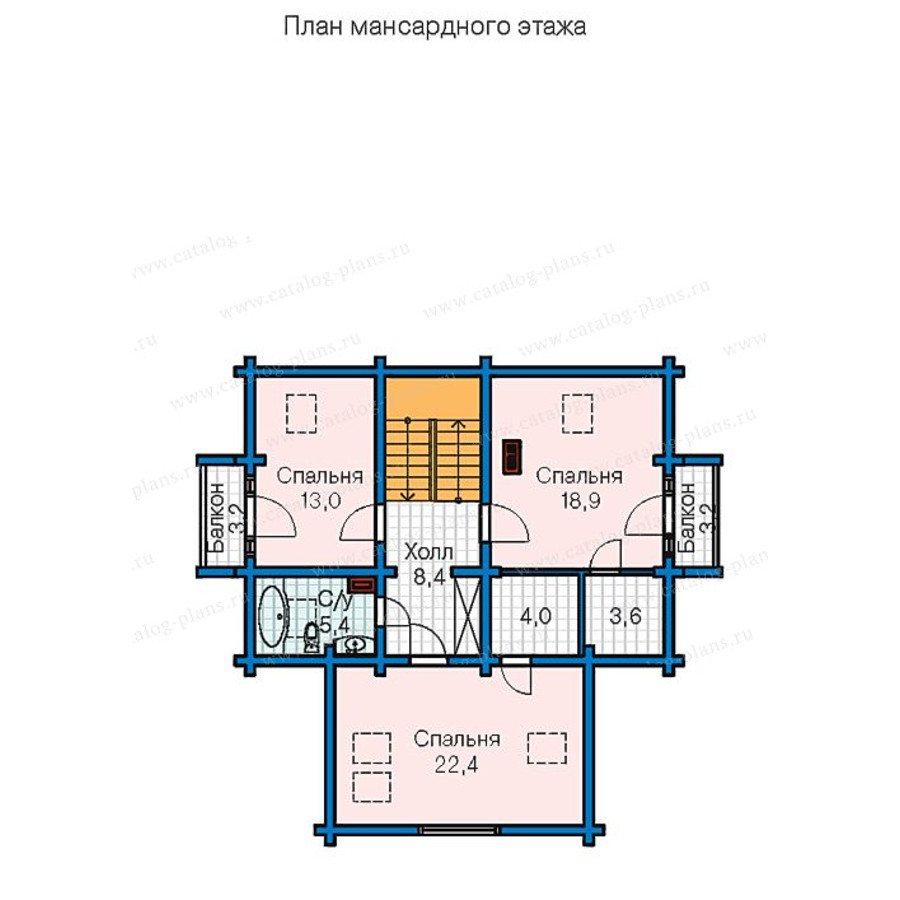 План 3-этажа проекта 13-31