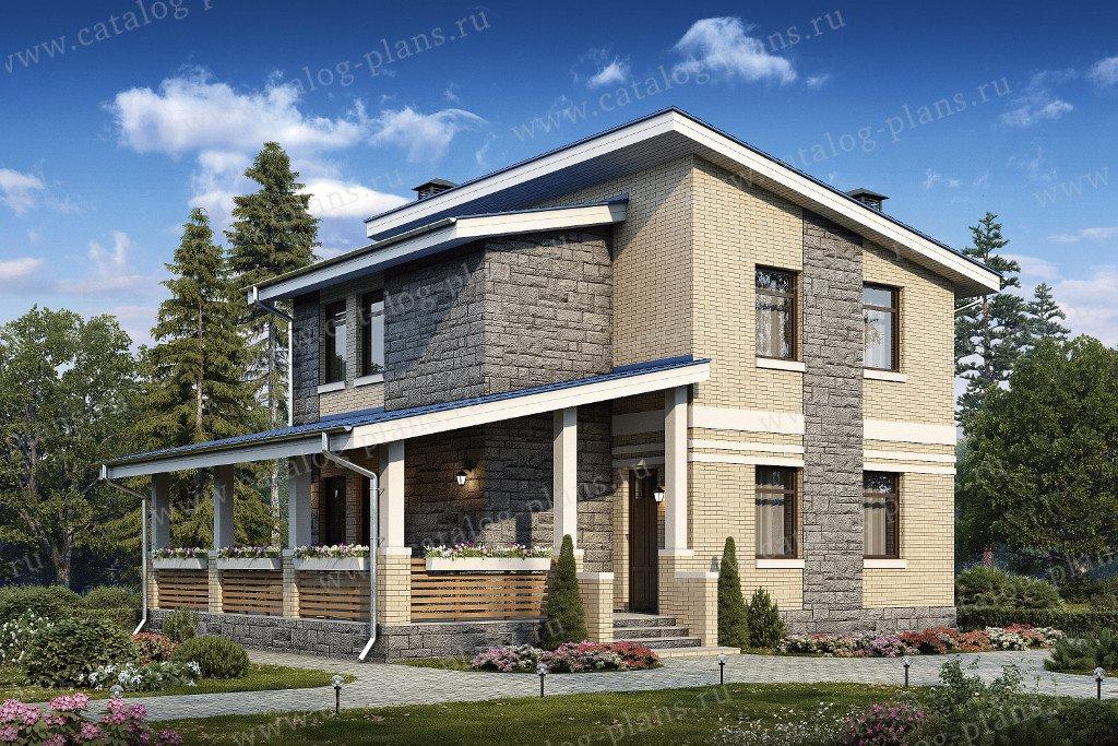 Проект жилой дом #48-20G материал - газобетон, стиль современный