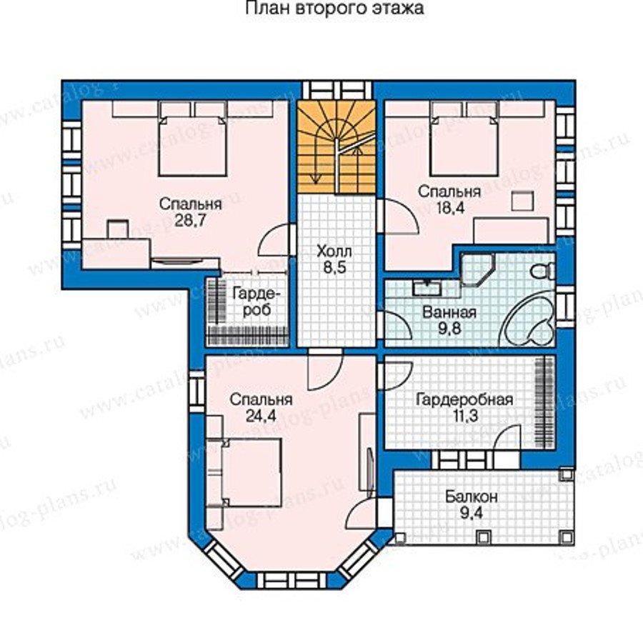 План 2-этажа проекта 70-57