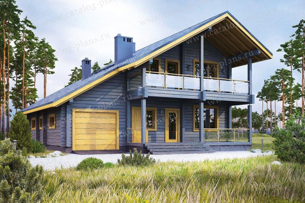 Проект жилой дом #13-34 материал - дерево, стиль скандинавский