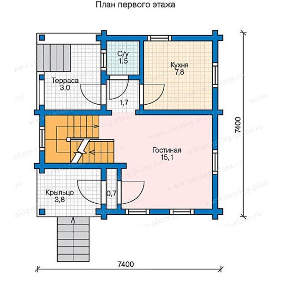 План 1-этажа проекта 13-55