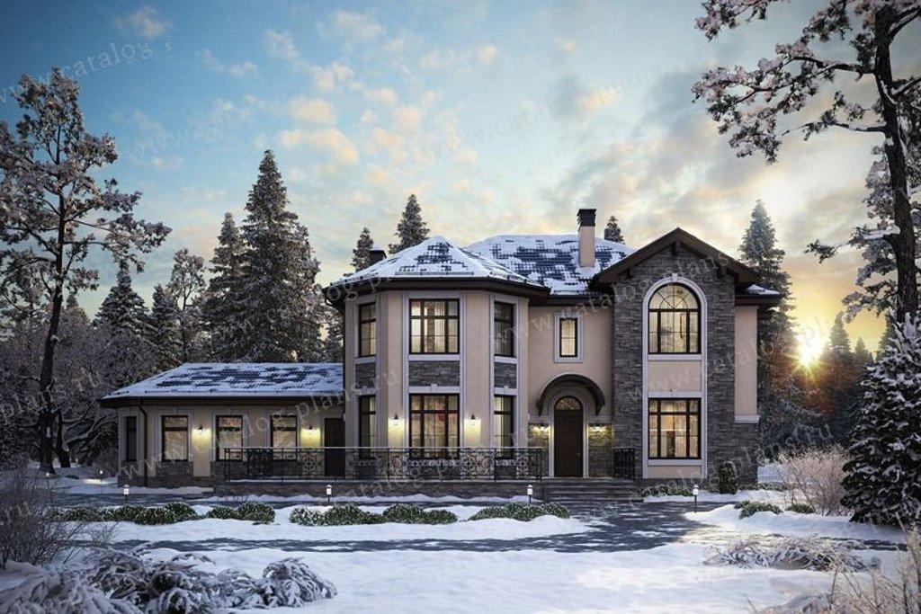 Проект жилой дом #48-29G материал - газобетон, стиль европейский