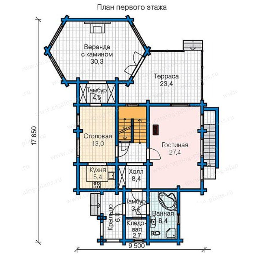 План 2-этажа проекта 13-31