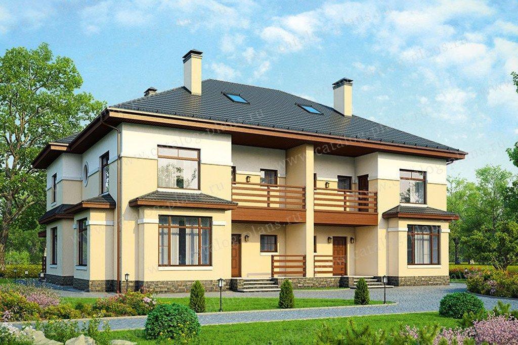 Проект жилой дом #48-34G материал - газобетон, стиль европейский