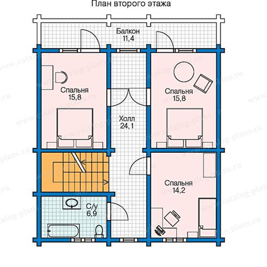 План 2-этажа проекта 13-39