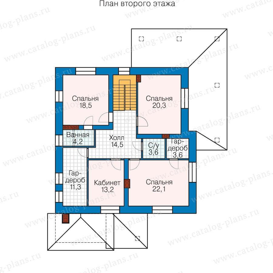 План 2-этажа проекта 40-25