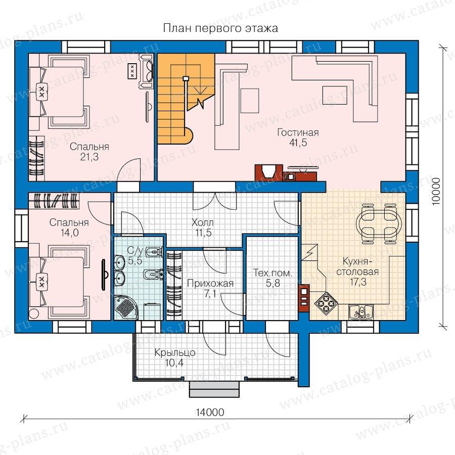 План 1-этажа проекта 60-81