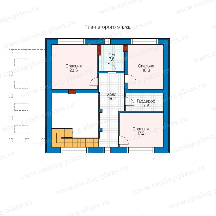 План 2-этажа проекта 40-46l
