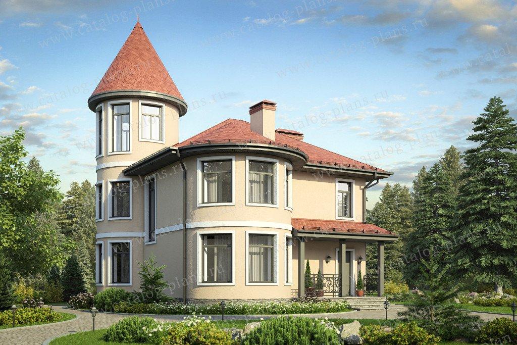 Проект жилой дом #58-53 материал - газобетон, стиль классический