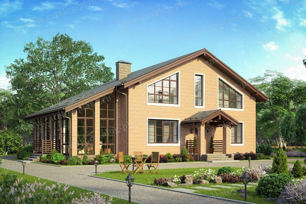 Проект жилой дом #40-46l материал - кирпич, стиль классический