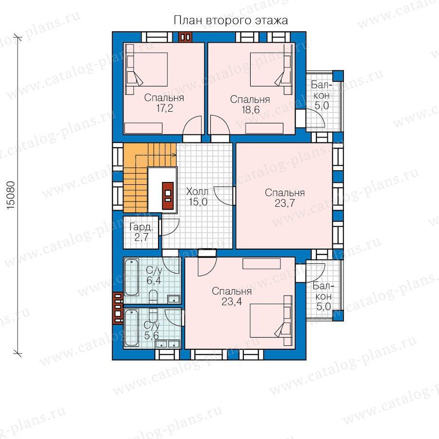 План 2-этажа проекта 40-48
