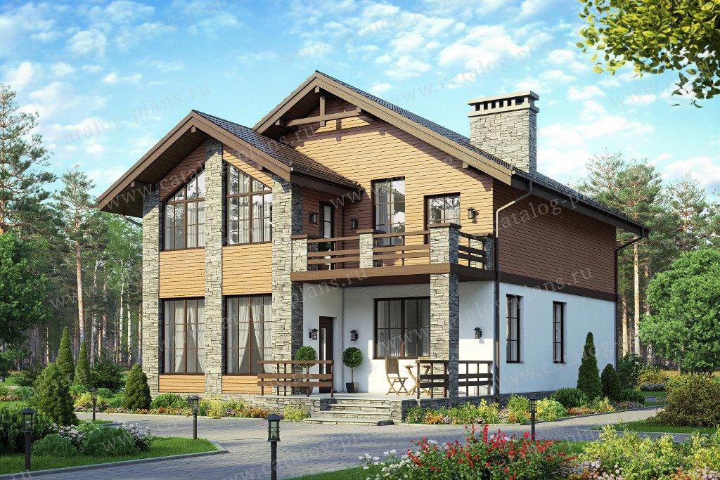 Проект жилой дом #57-84A материал - газобетон, стиль классический