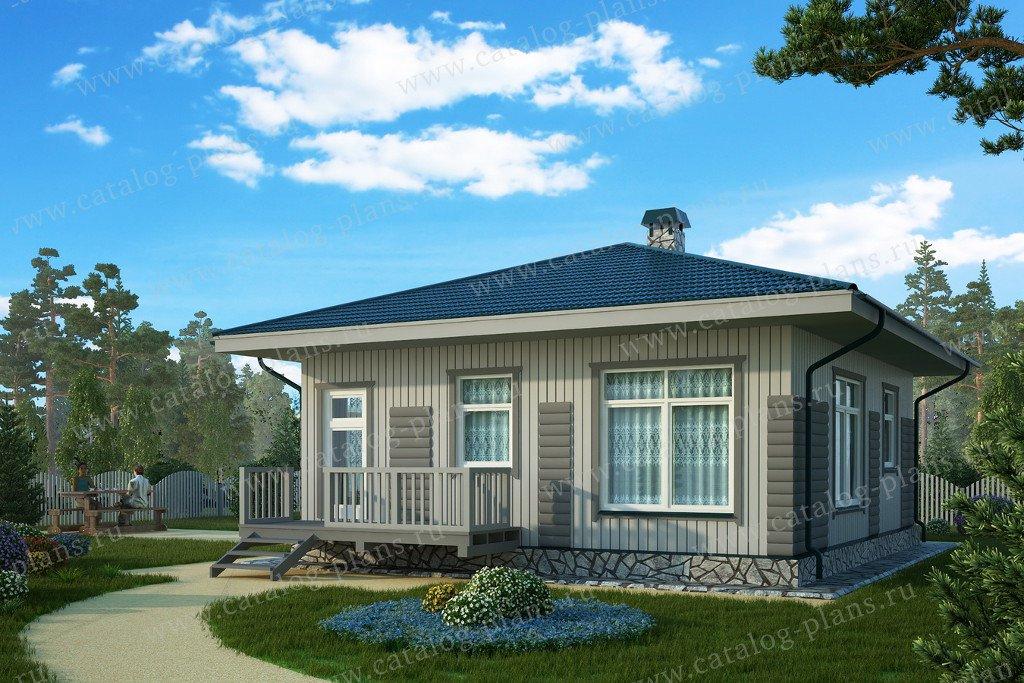 Проект жилой дом #70-76 материал - каркас, стиль скандинавский