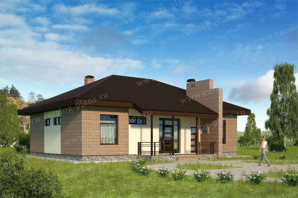Проект жилой дом #60-80 материал - газобетон, стиль современный