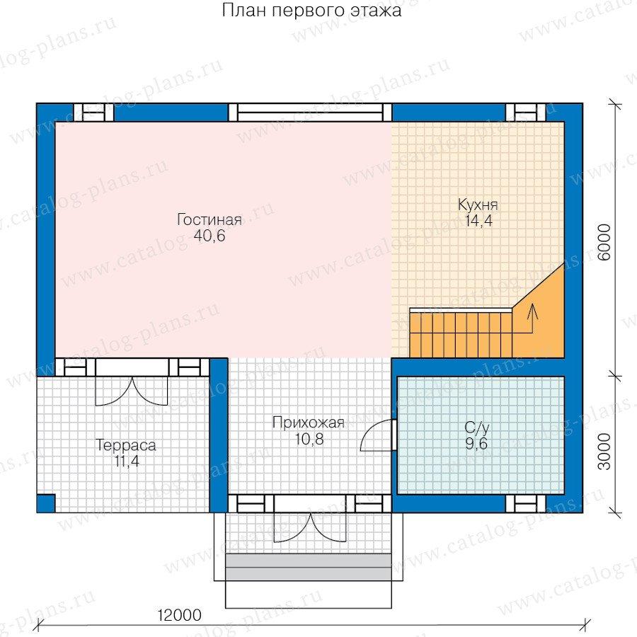 План 1-этажа проекта 60-79