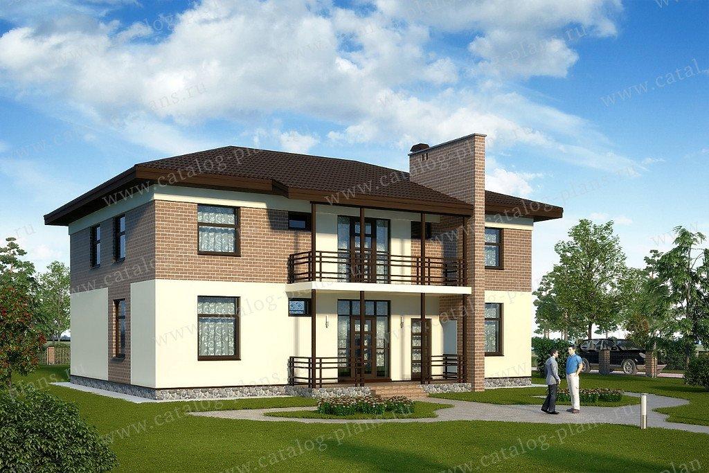 Проект жилой дом #60-81 материал - газобетон, стиль современный