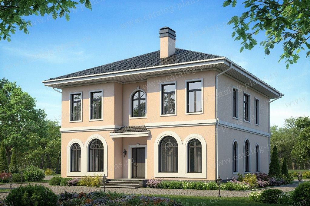 Проект жилой дом #58-41K материал - кирпич, стиль средиземный