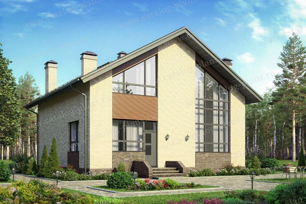 Проект жилой дом #58-21B материал - газобетон, стиль классический