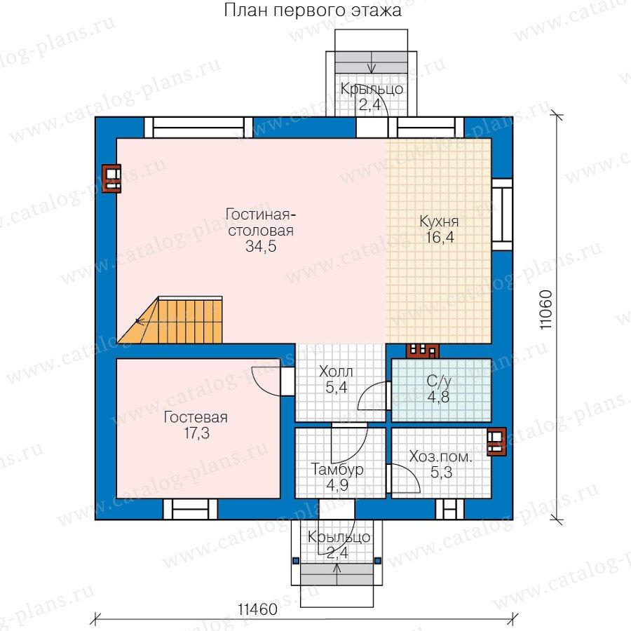 План 1-этажа проекта 58-21B