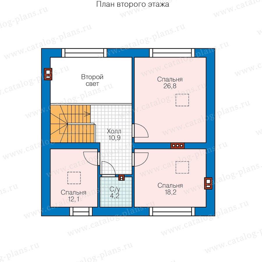 План 2-этажа проекта 58-21B